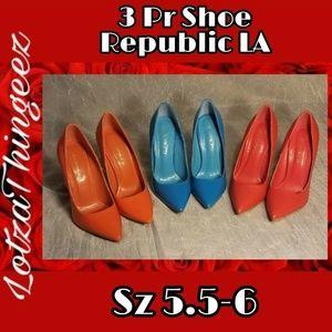 Shoe Republic LA Pointy Toe Pumps 3 Pair in 5.5-6